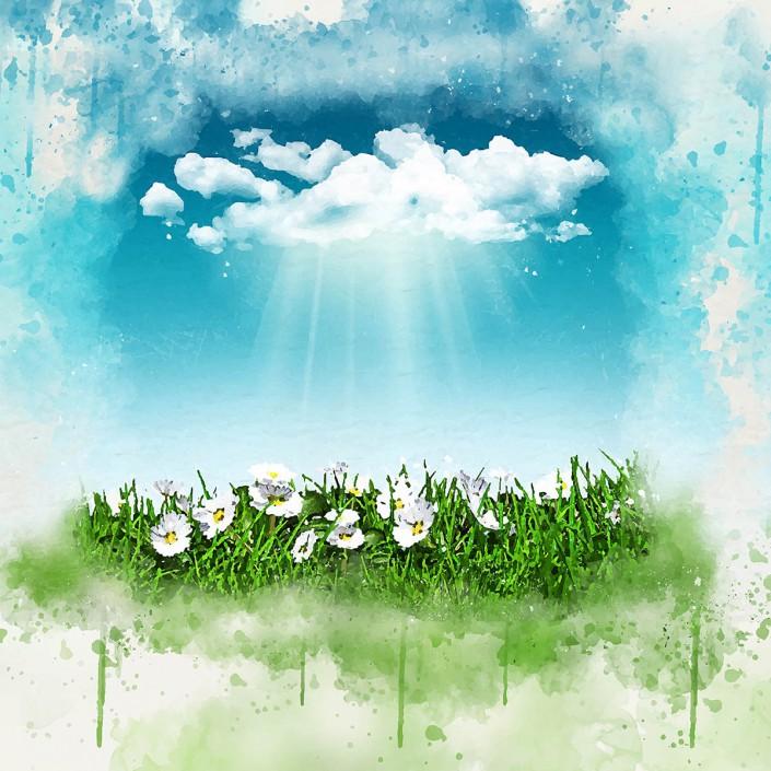 nubes y bendiciones