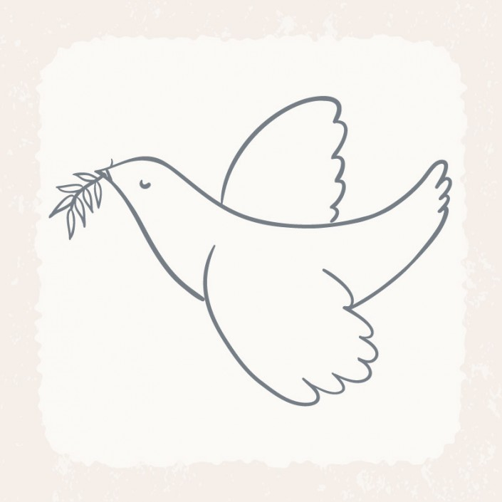Paz, paloma, olivo